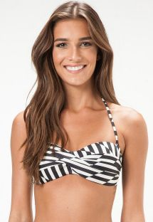 Two-tone geometric bandeau top with cups - SOUTIEN UTAH