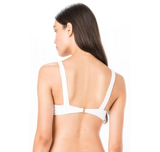 TOP BOW BRANCO LISO PIQUET