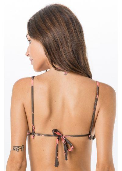 Brown printed triangle bikini top - TOP FRUFRU SWIM BROWN