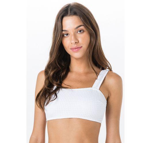 Hvid tekstureret bikini bh-top - TOP MIRACLE ANARRUGA BRANCO