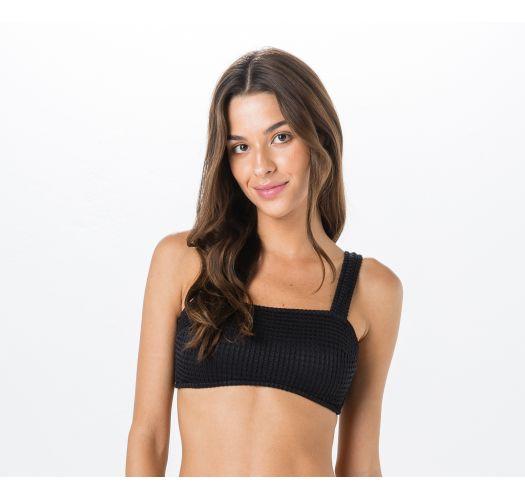 3d9cbae1f7b8f Bikini Tops Black Textured Bra Bikini Top - Top Miracle Anarruga Preto