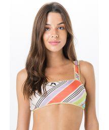 Bikinitopp i BH-modell med tropiskt retrotryck - TOP MIRACLE DRONE