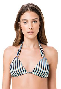 Triangle halter top blue stripes - TOP PASSADOR GAROUPA