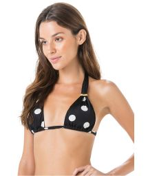 Black halter bikini top - polka dots - TOP PASSADOR POP