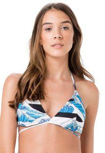 Triangle bikini top Hokusai type - TOP PRAIA DA ILHA