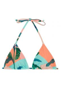 Tropical pastel sliding triangle top - TOP ROLOTE BRISA