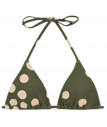 Green sliding triangle top with polka dots - TOP ROLOTE POP KAKI