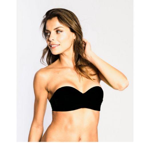 Bandeau bikini top - SOUTIEN GIA BLACK