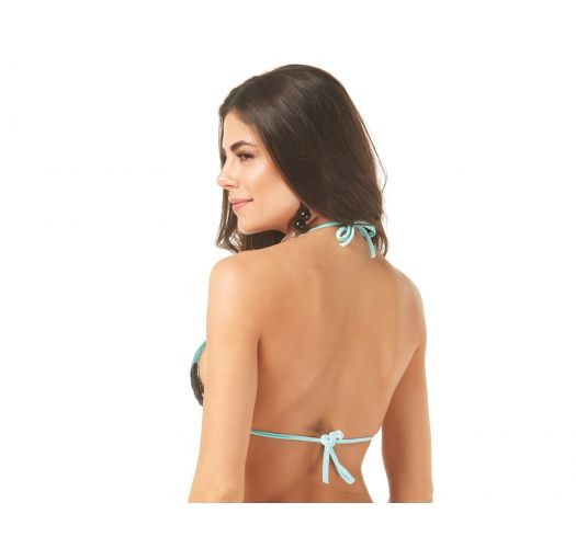 Tricolor triangle top with pearls - TOP X-FIT BUSTO BORDADO MICANGA