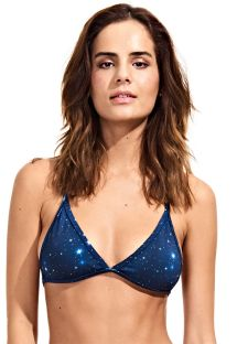 T-back triangle bikini top, starry night print - SOUTIEN NIGHT