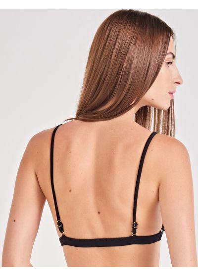 Black & white geometric triangle bikini top - TOP ELEGÂNCIA UMBRELLAS