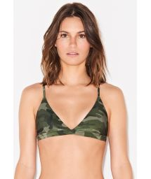 Triangle top in camo print - TOP SHORTY CAMOUFLAGE