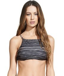 Luxury two-tone striped swimsuit crop top - SOUTIEN LANAI B MARY LIZ