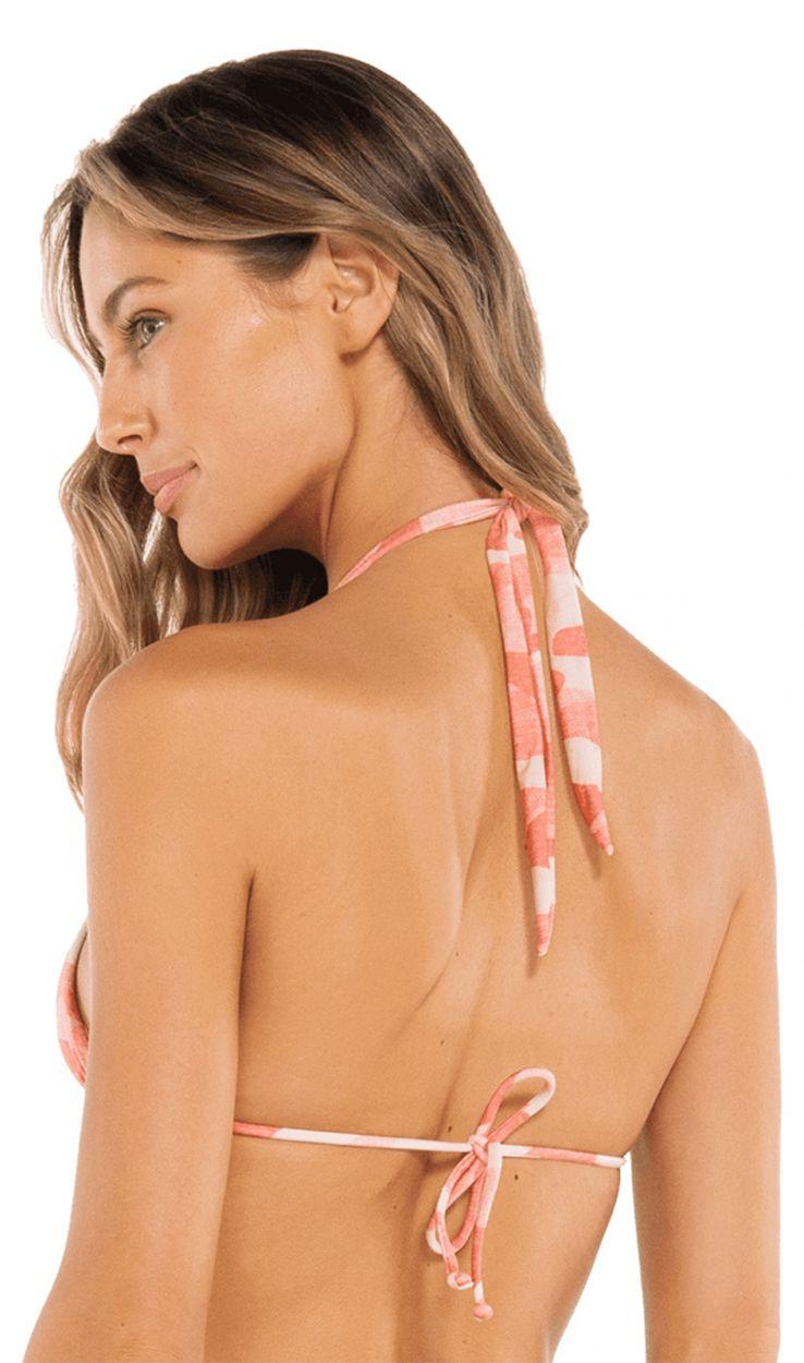 Accessorized pink camo bikini top - TOP BIA TUBE CAMU