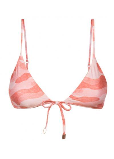 Accessorized pink camo triangle top - TOP BRALETTE CAMU