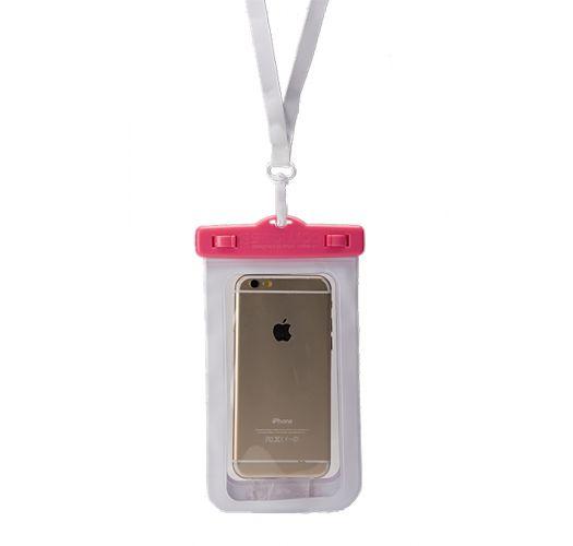 ピンクのスマートフォン用防水ケース - WATERPROOF CASE PINK