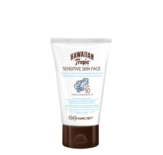 HAWAIIAN TROPIC SENSITIVE SKIN FACE 50 SPF