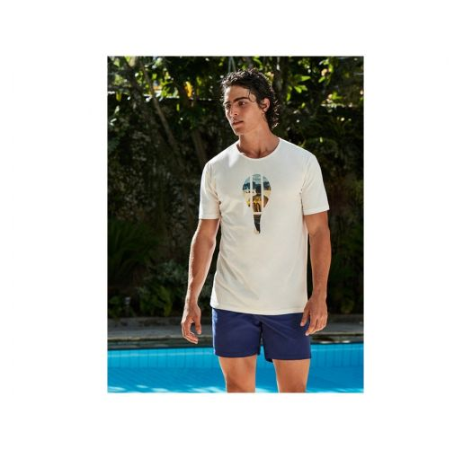White T-shirt with frescobol / Neymar Jr. print - T-SHIRT BAT NEYMAR
