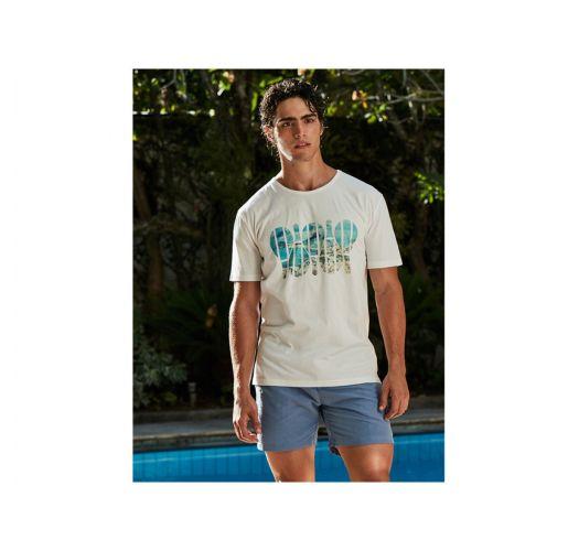 White T-shirt with frescobol / Rio de Janeiro print - T-SHIRT REGULAR RIO