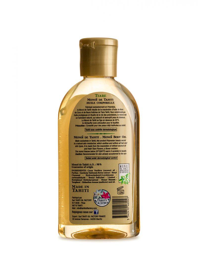 Monoi-olja med gardeniadoft - Vahine Tahiti - Monoï Tiare - 125ml