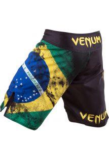 Muski kupaci kostimi - VENUM BRAZILIAN FLAG FIGHTSHORTS - BLACK