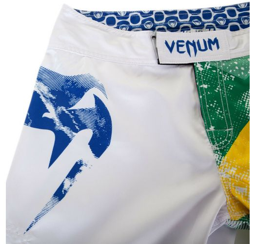 Men Swimwear - VENUM BRAZILIAN FLAG FIGHTSHORTS - WHITE