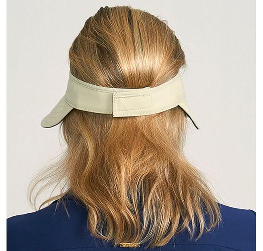 Beige/schwarze Wende-Damenschirmmütze - VISEIRA BALI AREIA E PRETO - SOLAR PROTECTION UV.LINE