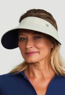 Reversible beige / black feminine visor - SPF50 - VISEIRA BALI AREIA E PRETO - SOLAR PROTECTION UV.LINE