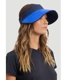 Reversible navy / blue feminine visor - SPF50 - VISEIRA BALI AZUL E MARINHO - SOLAR PROTECTION UV.LINE