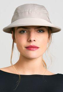 Casquette femme beige tissu photoprotecteur - VISEIRA NICE KAKI - SOLAR PROTECTION UV.LINE