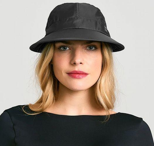 Boné para senhora preto c/ tecido fotoprotetor - VISEIRA NICE PRETO - SOLAR PROTECTION UV.LINE