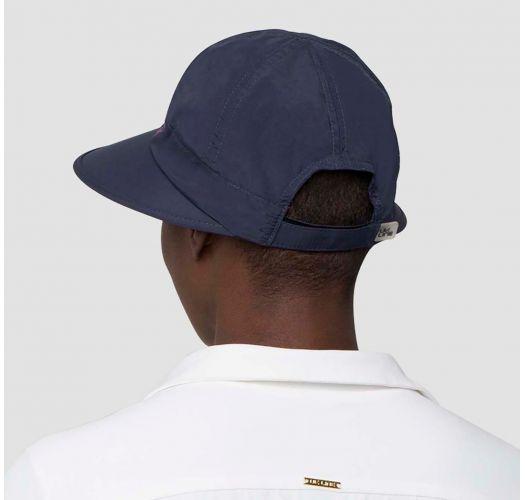 Damenmütze marineblau/rosa, Sonnenschutzstoff - VISEIRA NICE SHOCK - SOLAR PROTECTION UV.LINE