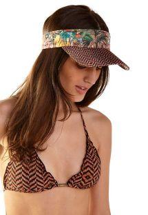 Cappellino con visiera in stampa tropicale ed etnica - VISEIRA RUBI GUINÉ