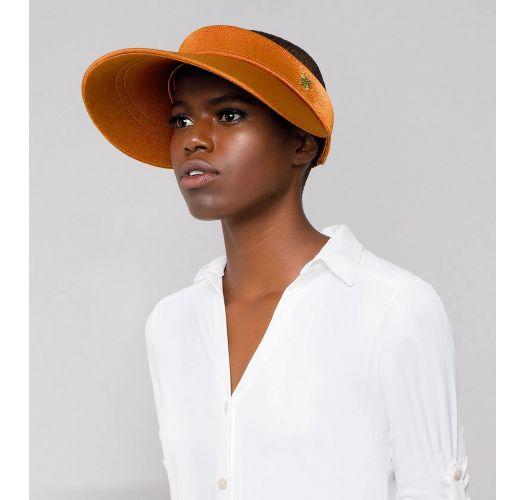 Women`s iridescent orange visor with elastic back - GRECIA LARANJA
