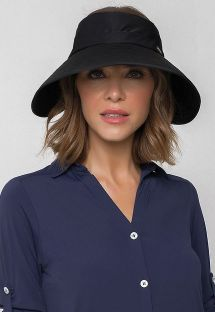 Czarny miękki kapelusz z filtrem UV50+ - VISEIRA TOKYO BLACK - SOLAR PROTECTION UV.LINE