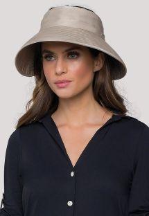 Beżowy miękki kapelusz z filtrem UPF50+ - VISEIRA TOKYO KAKI - SOLAR PROTECTION UV.LINE