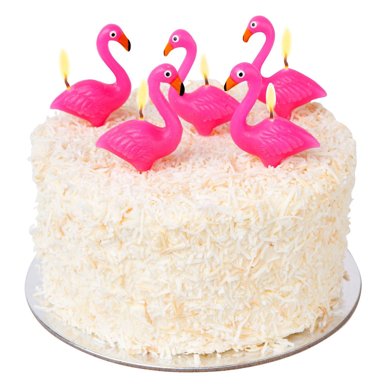 juego de 5 velas en forma de flamenco rosa flamingo cake candle. Black Bedroom Furniture Sets. Home Design Ideas