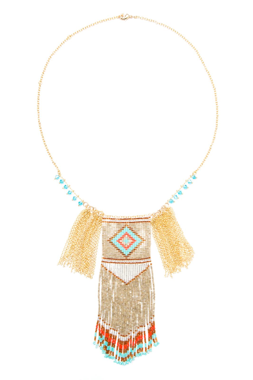 collier long collier ethnique dor en perles hipanema birdy. Black Bedroom Furniture Sets. Home Design Ideas