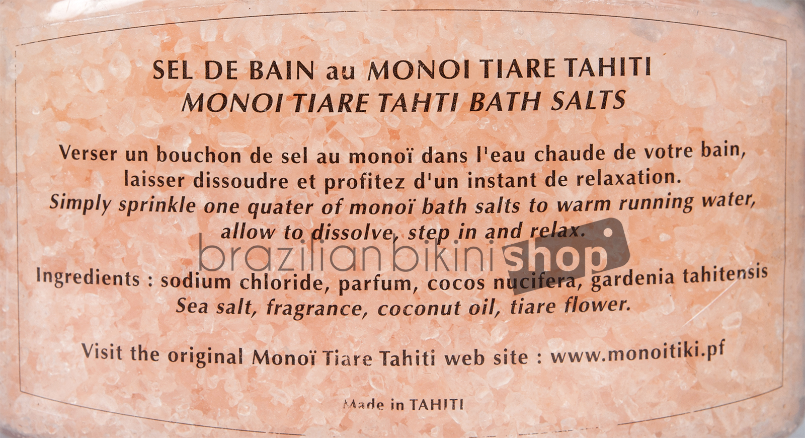 Vanilla And Tahitian Tiaré Flower Scented Bath Salts - Sels De ...