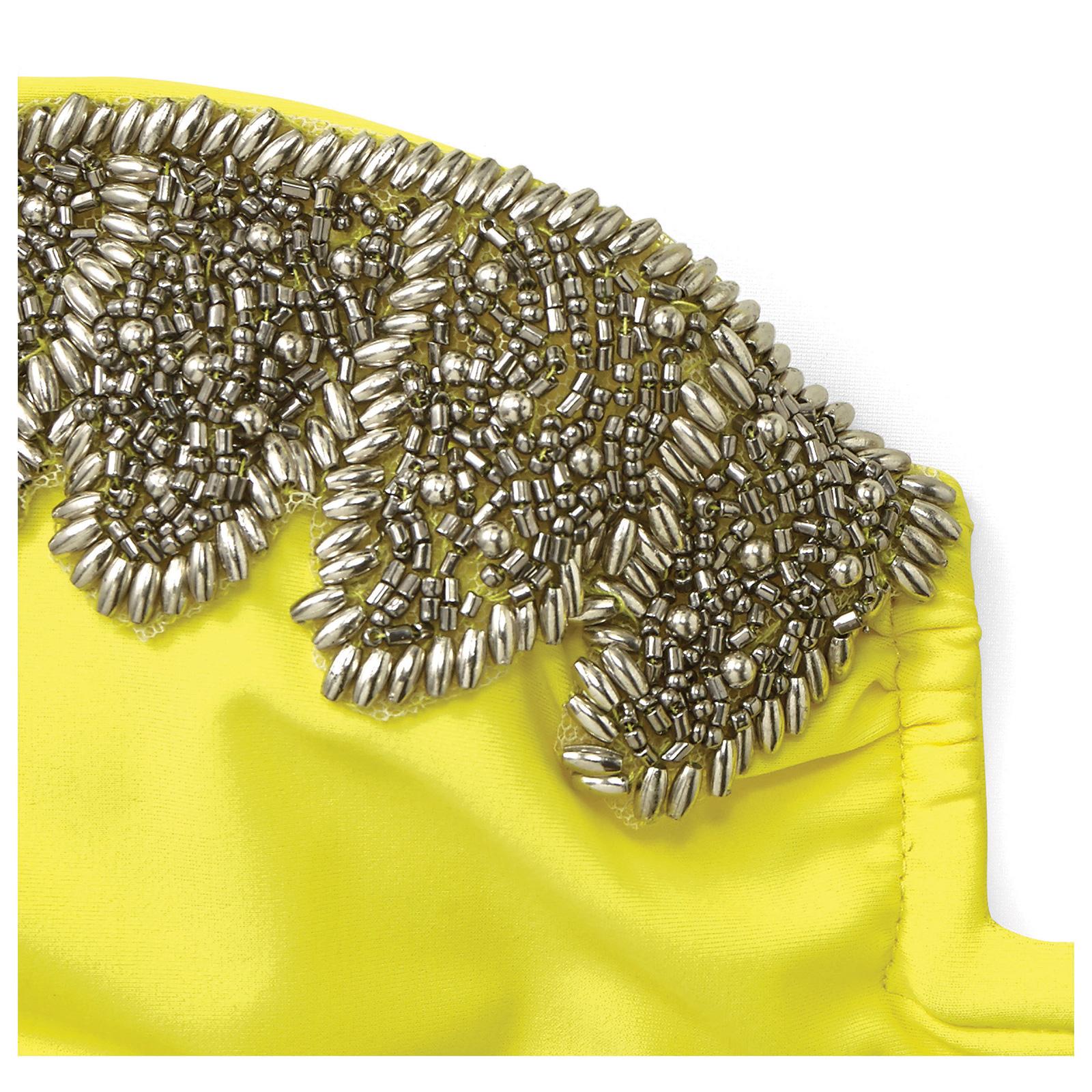 Costume da bagno amenapih con top a fascia giallo con - Perle da bagno sephora ...