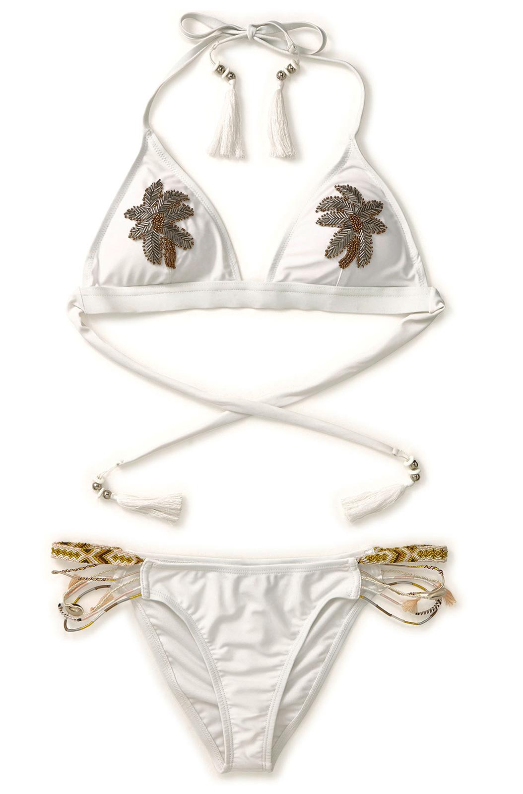 maillot de bain amenapih blanc avec palmier perl sunswim white. Black Bedroom Furniture Sets. Home Design Ideas