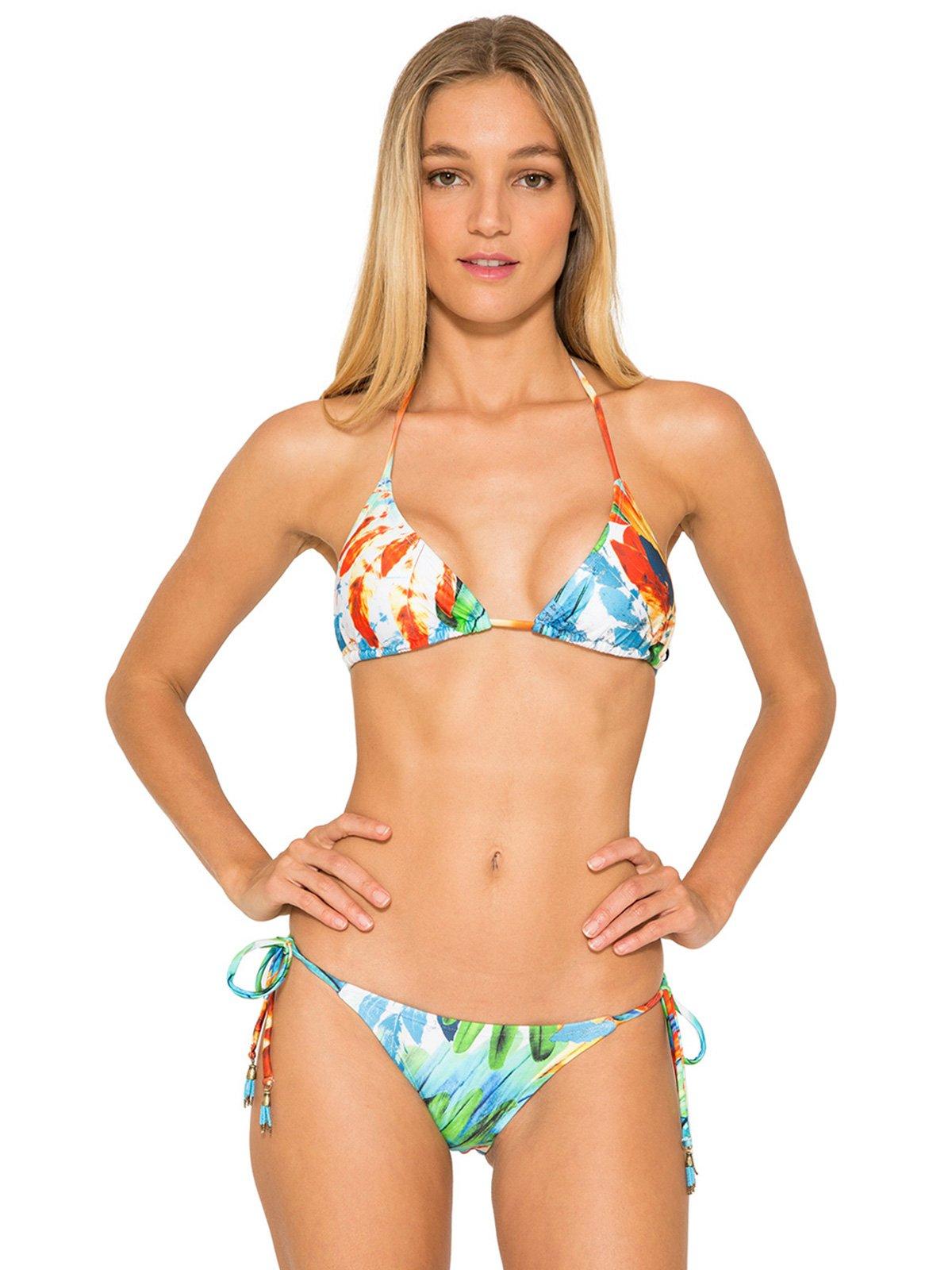 Triangle Bikini With Removable Foam Padding, Colourful