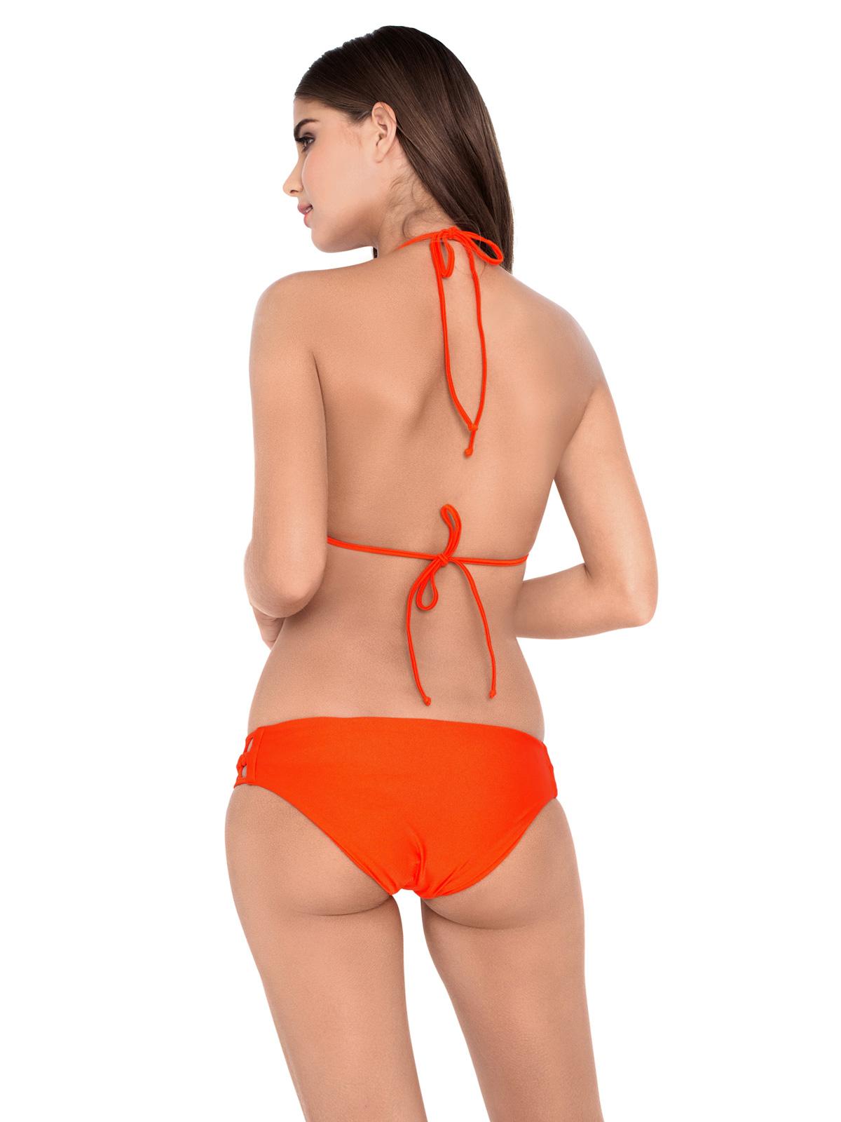 traje de ba o dos piezas con corpi o entallado naranjo con