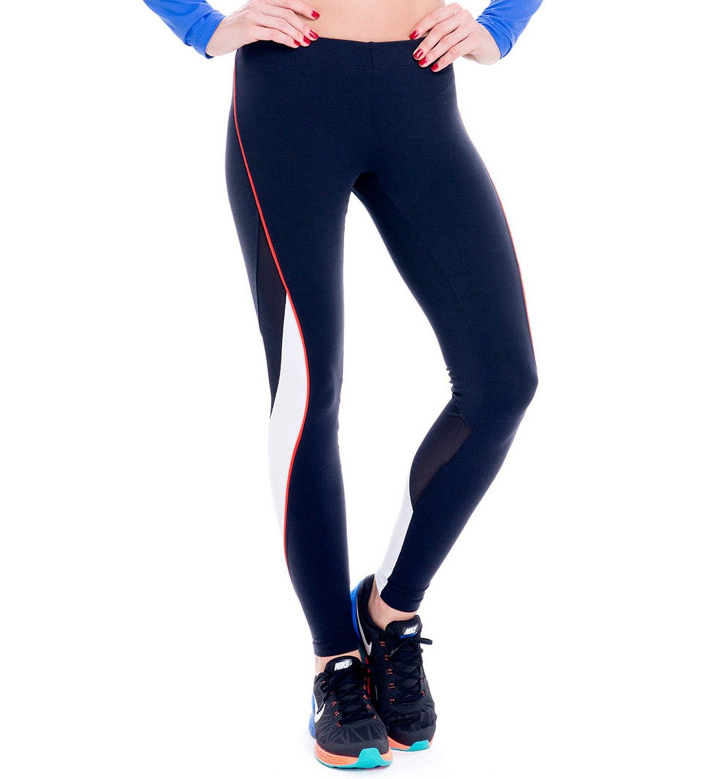 sport leggings kombiniert aus zwei materialien in schwarz und wei fuseau anahuacalli. Black Bedroom Furniture Sets. Home Design Ideas