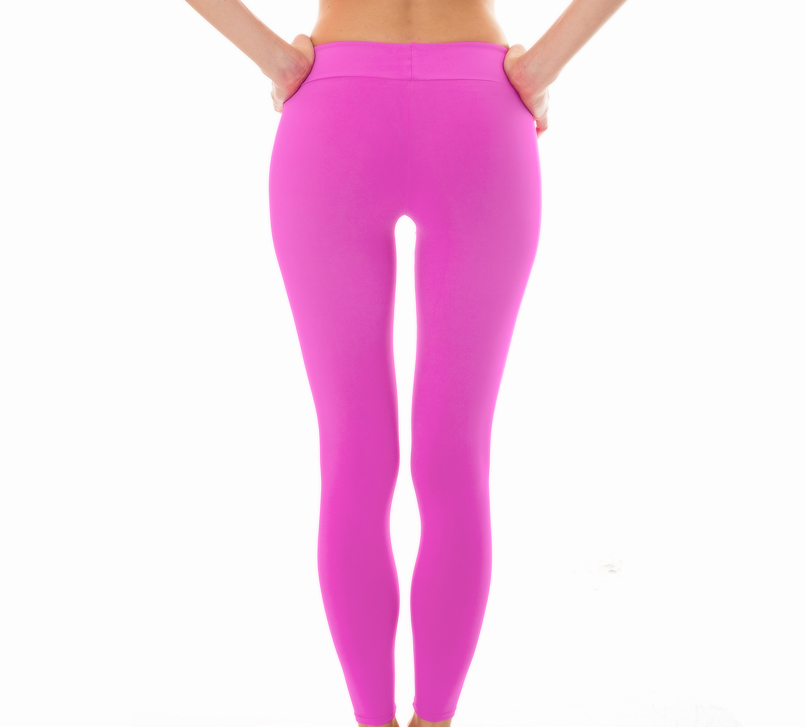 Fitness nedredel Enfärgade Rosa Fitness-leggings - Leg Nz Glam 202b57483df68