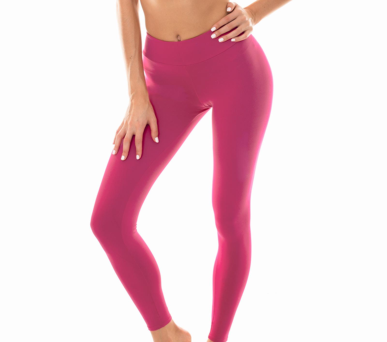 exclusive deals good service official shop Plain Deep Pink Workout Leggings - Leg Nz Vitamina