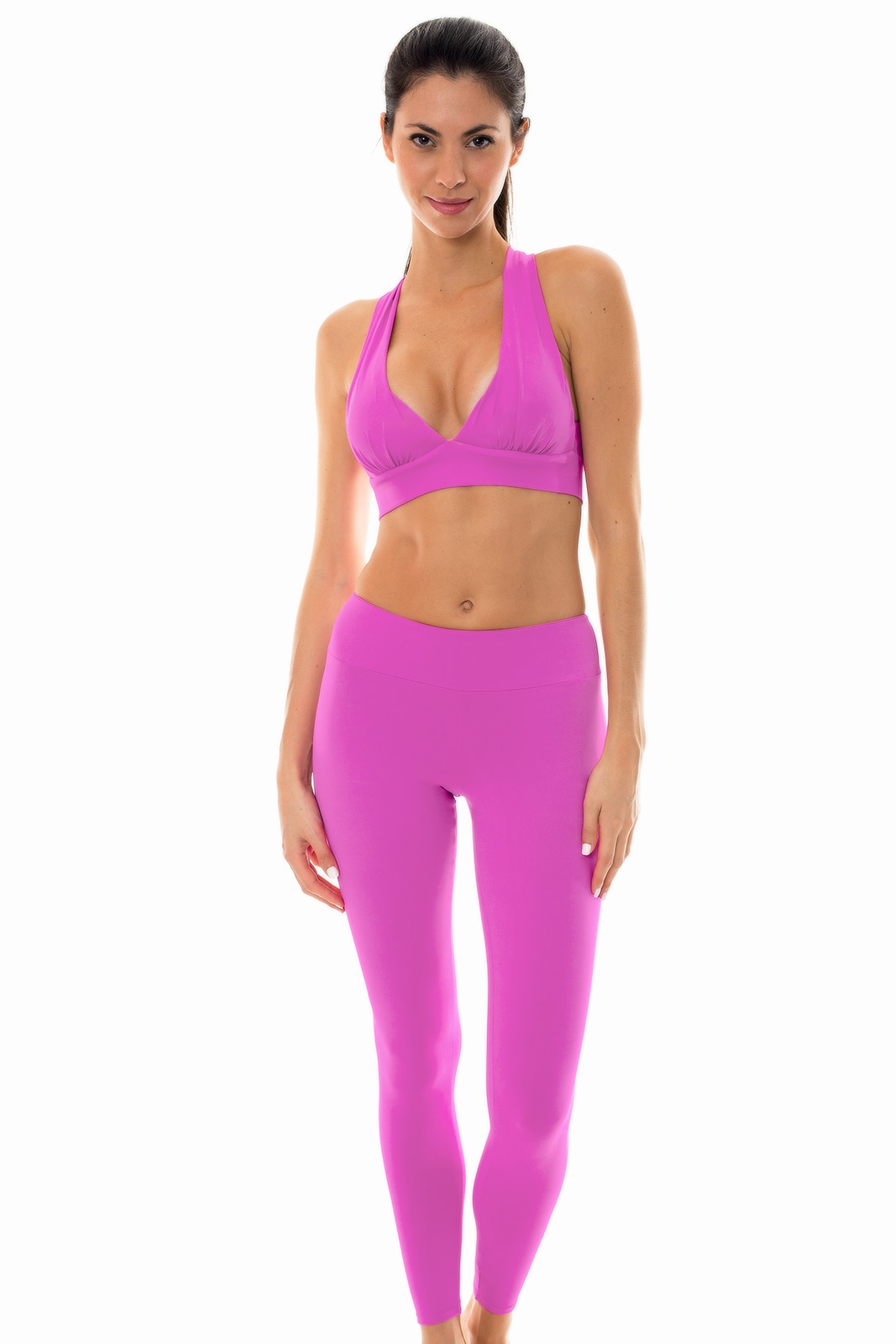59c6836ba927b Fitness Set Pink Sports Bra And Leggings Set - Nz Glam Fitness