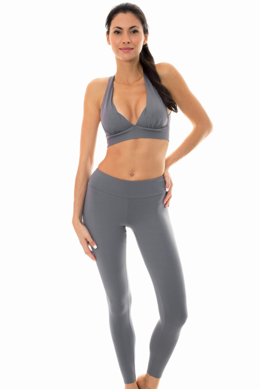 a4ff88a3d4f1c Two Piece Swimwear Grey Sports Bra And Leggings Set - Nz Gris Fitness