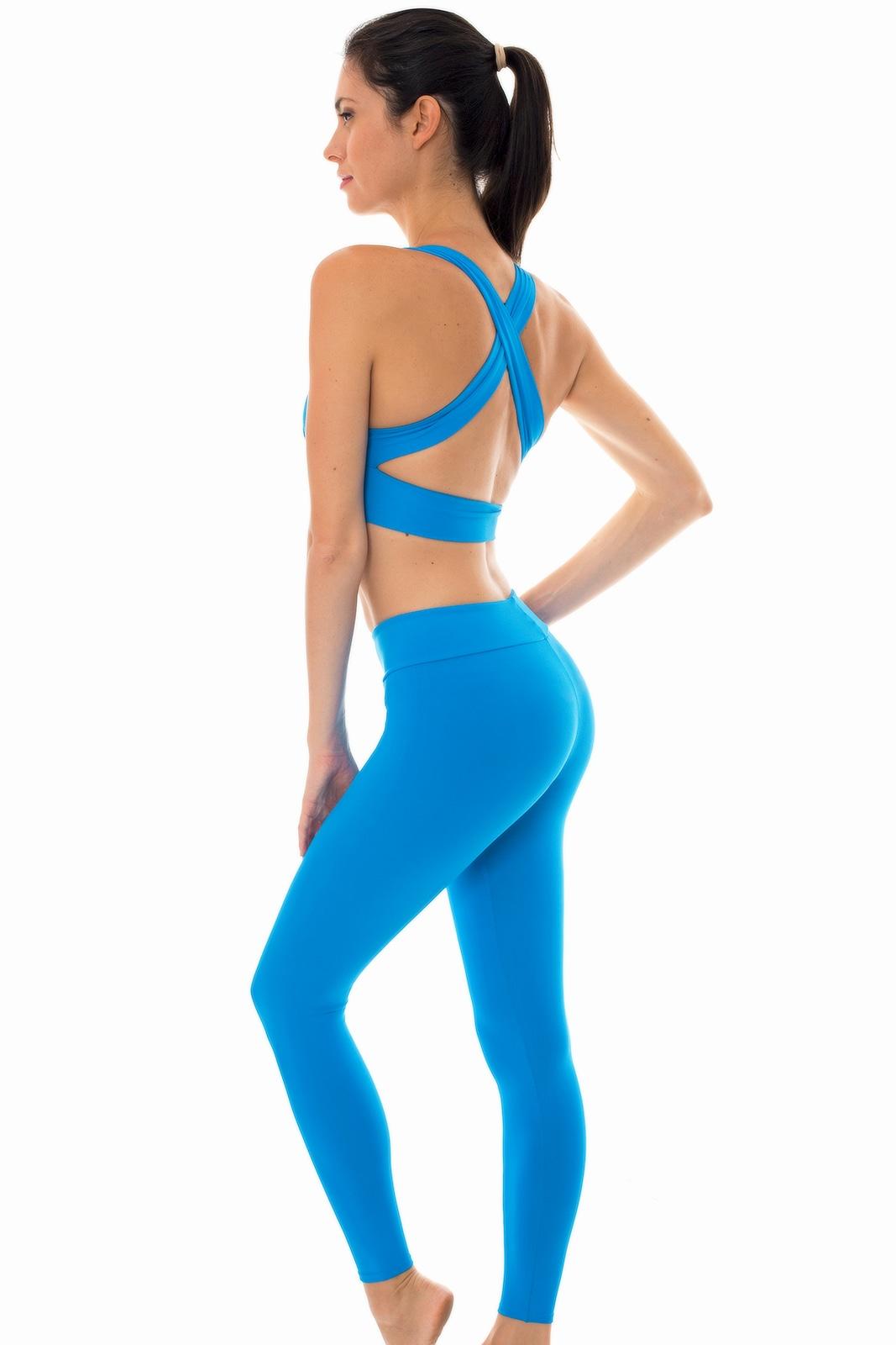 0bb40d1cf0bda Blue sports Bra And Workout Leggings Set - Nz Resort Fitness - Rio ...