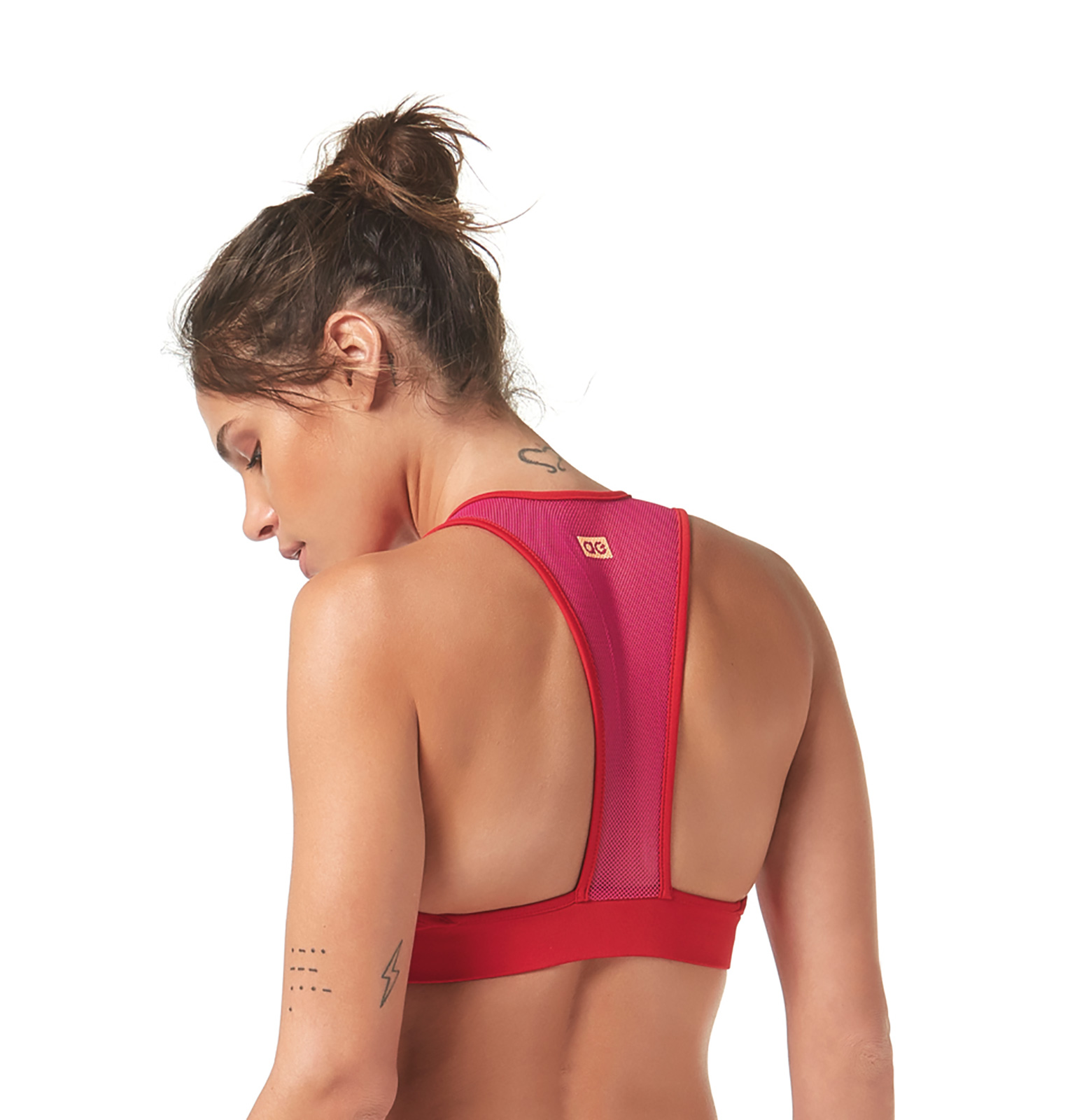 fa1ff89b0f2e4 Fitness top Pink And Red Racerback Fitness Bra Top - Top Be Fit